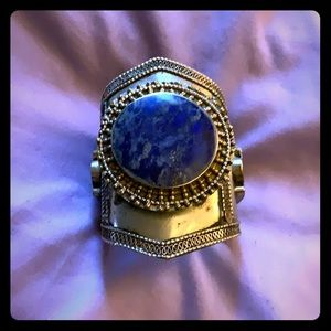 Antique hand made in India large cuff bracelet